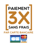 paiement carte bleue en 3 fois sans frais sur le site Les Dérivés
