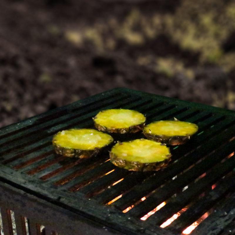 fruits au barbecue avec les dérivés