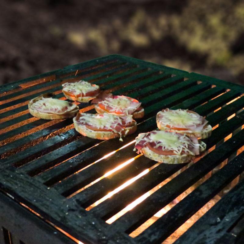 cuisson tartines au barbecue avec les dérivés